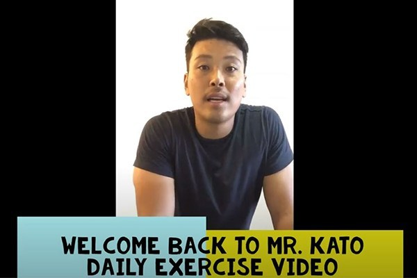 Mr Kato from staying active video