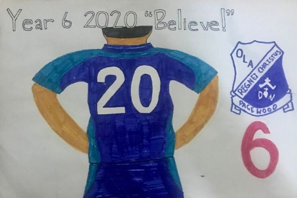 Our Lady of the Annunciation Pagewood Year 6 2020 believe poster
