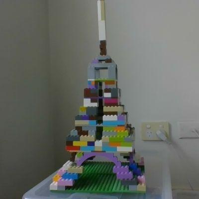 St Aloysius Holiday Lego Challenge Eiffel tower