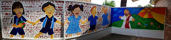 Our Lady of Mt Carmel Catholic Primary School Mt Pritchard wall mural