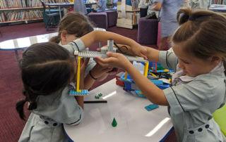 St Aloysius Catholic Primary School Cronulla students using LEGO
