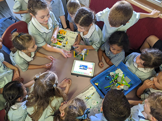 St Aloysius Catholic Primary School School Cronulla Year 2 students learning with LEGO