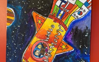 St Francis de Sales' Catholic Primary School Woolooware student Luca Atzeri's Harmony Day Poster Competition entry.