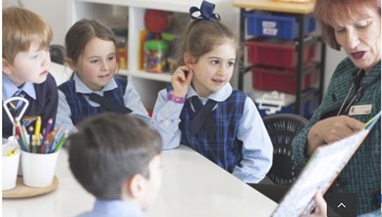 All Hallows Catholic Primary School Five Dock principal Helen Elliott teaching Year 5 religion