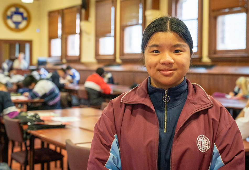 Mary Mackillop Catholic College Wakeley student, Tracie Duong