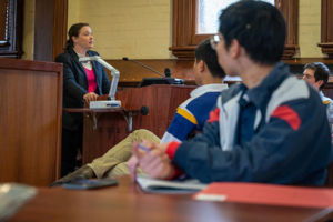 NSW Educational Standards Authority (NESA) Inspector Mathematics and Numeracy, Anna Wethereld, addresses maths students