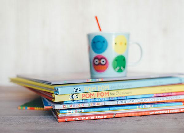 Books and a mug