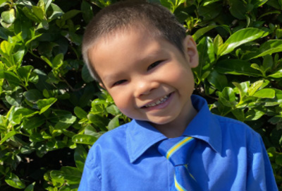 Our Lady of the Rosary Fairfield kindy student, Chandler Tran