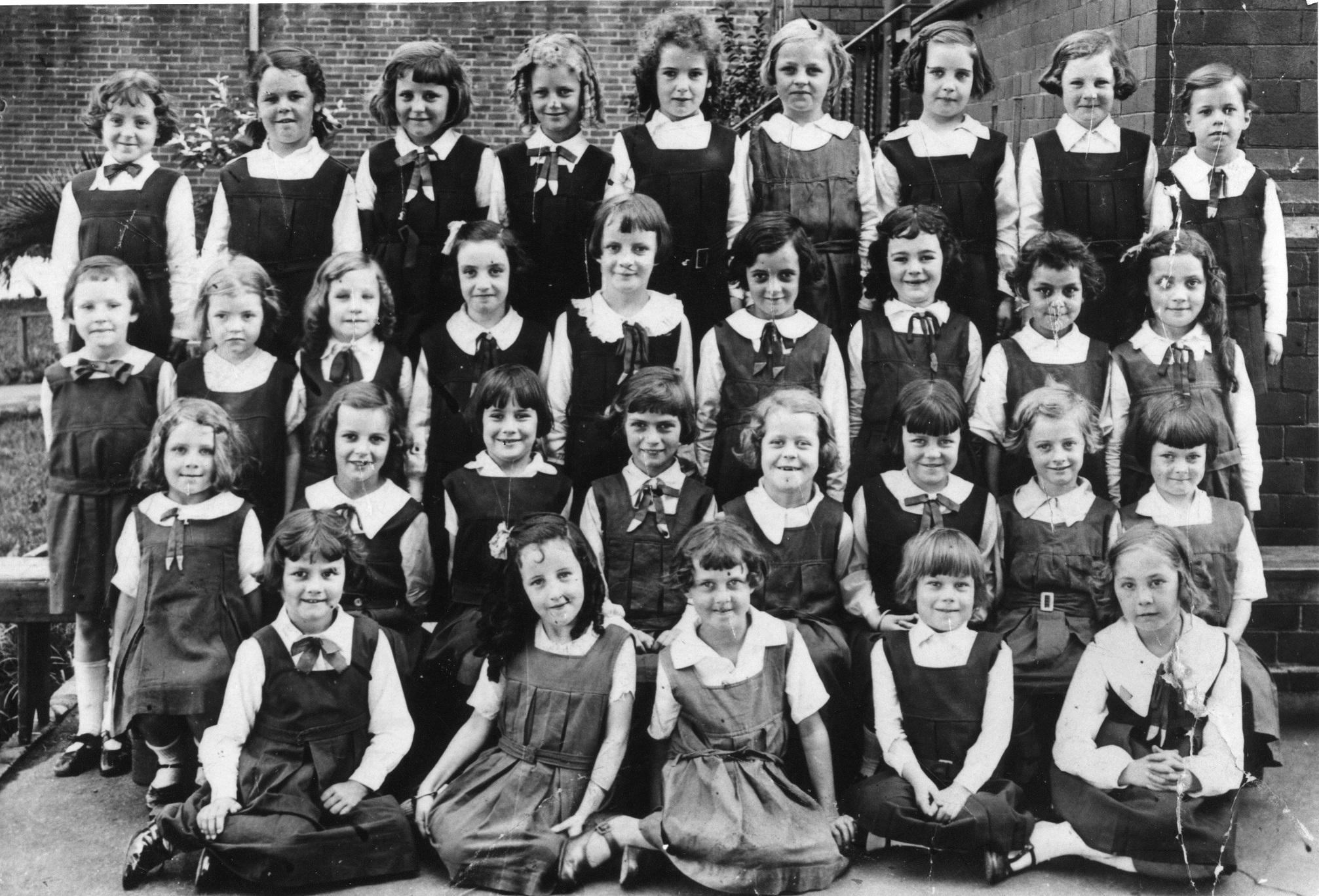 St James Catholic Primary School Forest Lodge girls student circa 1927-1928