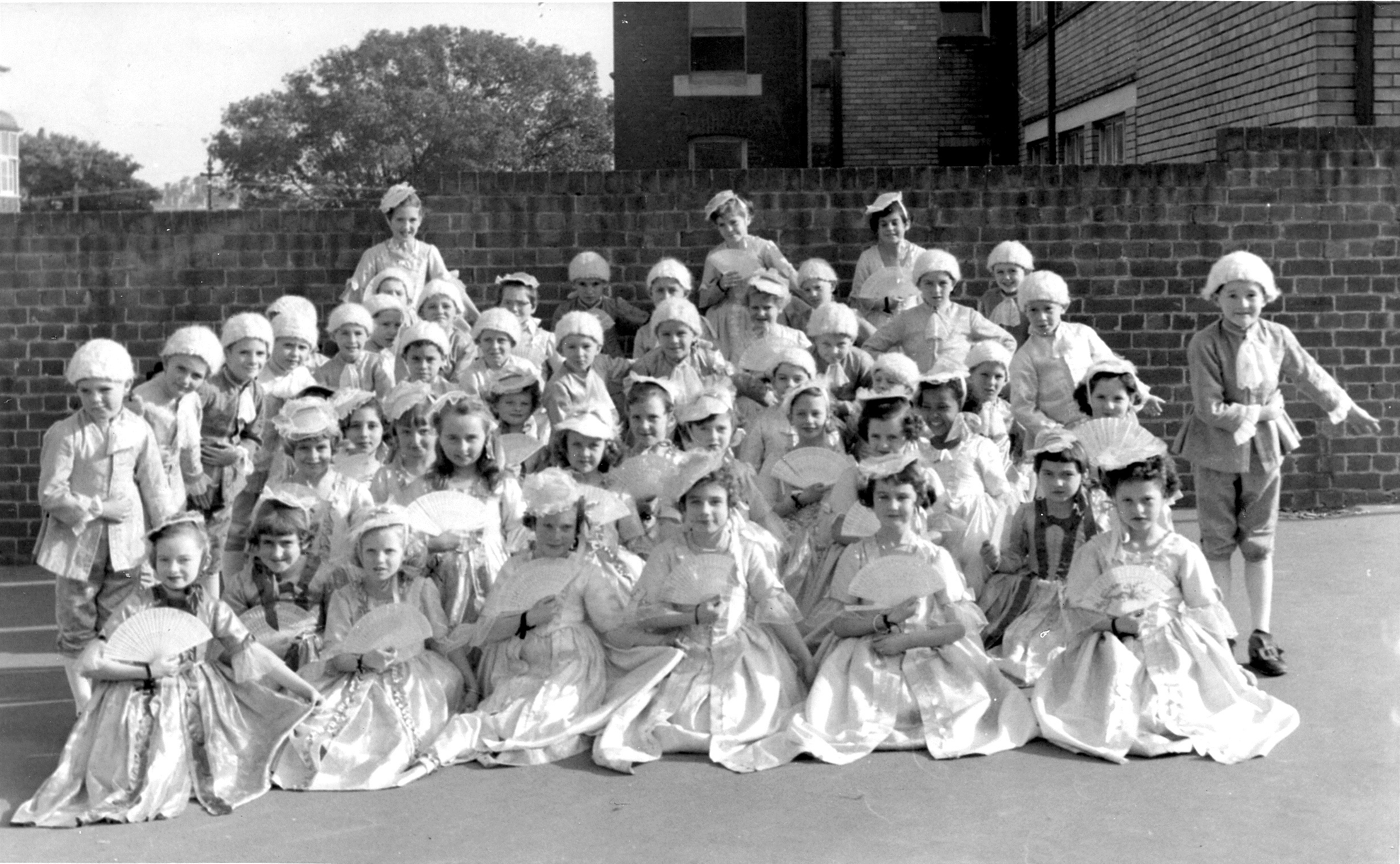 St James Year 3 pupils playing dress-ups in 1956