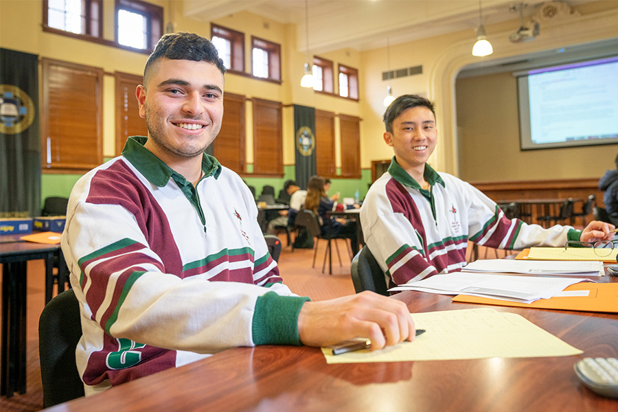 Holy Spirit Catholic College Lakemba Year 12 students Nicolas Al-Hazzouri and Jamie Nguyen