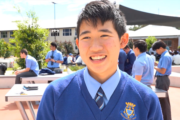 Student from Patrician Brothers Fairfield participating in the SunSprint Challenge