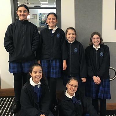 Year 5 Students St Mary's Catholic Primary School, North Sydney