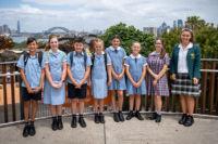 Students from St Joseph's Catholic Primary School Como, St Michael's Catholic Primary School Daceyville, Domremy College Five Dock, and Brigidine College Randwick