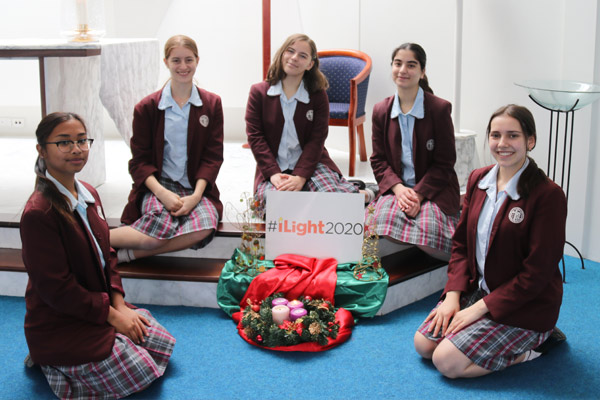 Students from Wakely college for iLight2020