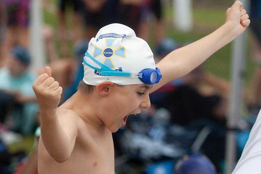 Swimmer at Sydney Catholic Schools Zone 5 Swimming Carnival