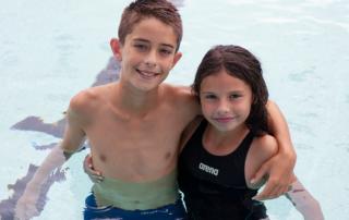 Swimming Siblings in the pool