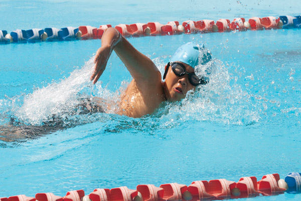 Swimmer at the Sydney Catholic Schools Zone 6 Swimming Carnival