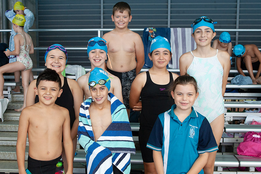 Swimmers at Sydney Catholic Schools Zone 6 Swimming Carnival