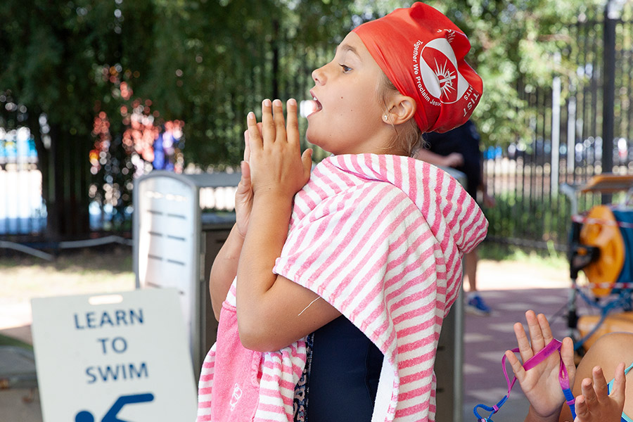 Swimmer at Sydney Catholic Schools Zone 6 Swimming Carnival