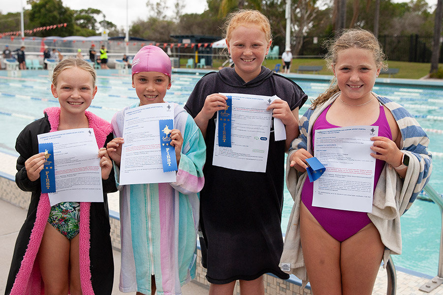Swimmers at Sydney Catholic Schools Zone 5 Swimming Carnival