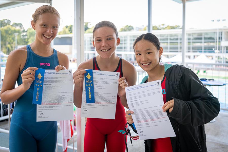 SCS' 2021 Archdiocesan Swimming Carnival Ribbon Winners