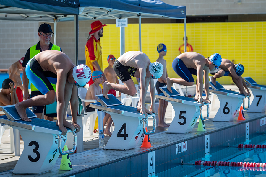 Swimmers from SCS' 2021 Archdiocesan Swimming Carnival