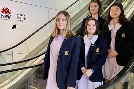 Bethlehem Catholic College Ashfield students have designed an app to help disabled commuters access trains.