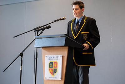Harrison Edwards, the current faith formation leader at Marist Catholic College North Shore
