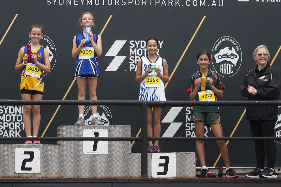 2021 Cross Country Podium Girls 11 Group A