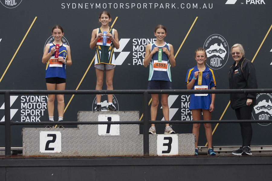 2021 Cross Country Podium Girls 12 Group D