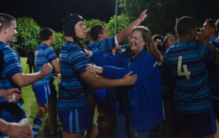 Patrician Brothers Fairfield celebrate their NRL Schoolboy Cup Round 2 win