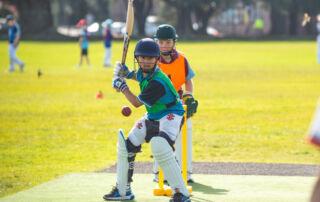 A Sydney Catholic Schools student batting at the 2021 Archdiocesan Cricket Trials