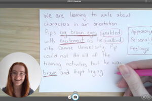 A writing lesson for Year 1 students during remote learning