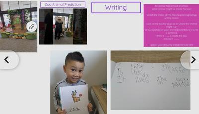Writing over zoom