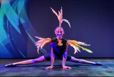 A Sydney Catholic Schools CaSPA student performing in the groundbreaking Triskelion Dance Wars film dance
