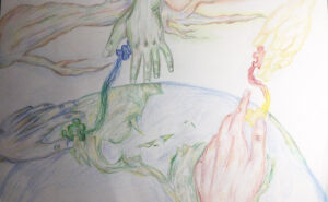 Leanne Trinh's Sydney Catholic Schools' 2021 National Child Protection Week art and drawing competition entry