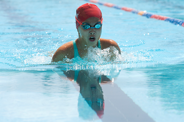 Siena Bautista poolside at Whitlam Leisure Centre, Liverpool